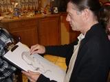 Caricaturiste issu de la bande dessinée