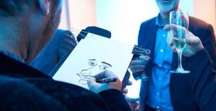 Caricaturiste pour une remise de médailles du travail (60)