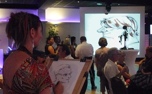Caricatures sur écran pour une soirée d'entreprise (49)