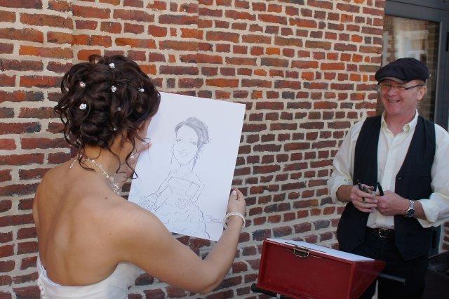 caricature de mariage