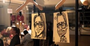 Duo de caricaturistes en soirée évènementielle à Toulouse (31)