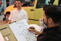 Tony caricature en Bourgogne